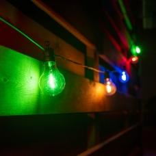 Электрогирлянда-ретро LED уличная Yes! Fun, 10 ламп, d-60 мм, многоцветная, 8 м