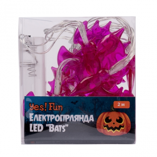 "Электрогирлянда Yes! Fun Хэллоуин ""Bats"", 11 фигурок, 2 м, LED, на батарейках"