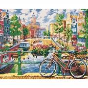 "Набор, картина по номерам ""Чарующий Амстердам"", 40*50 см., SANTI"