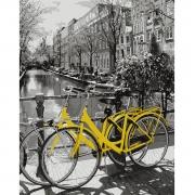 "Набор, картина по номерам ""Прогулка на велосипеде"", 40*50 см., SANTI"