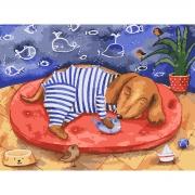 """Набор, картина по номерам """"Морские сны"""", 30*40 см., SANTI"""