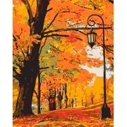 "Набор в коробке, картина по номерам ""Золотая осень"", 40*50 см., SANTI"