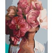 "Набор в коробке, картина по номерам ""Цветущая красота"", 40*50 см., SANTI"