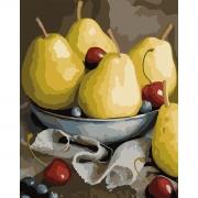 """Набор, картина по номерам """"Натюрморт с грушами"""", 40*50 см., SANTI"""