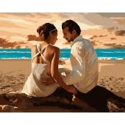 "Набор в коробке,  картина по номерам ""Вечер у моря"", 40*50 см., SANTI"