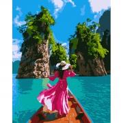"Набор, картина по номерам ""Волшебный Тайланд"", 40*50 см., SANTI"
