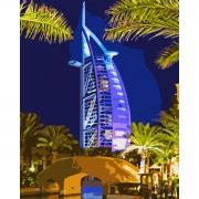"Набор, картина по номерам ""Ночной Дубаи"", 40*50 см., SANTI"