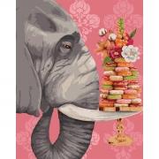 """Набор, картина по номерам """"Большой сладкоежка"""", 40*50 см., SANTI"""