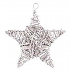 Звезда Yes! Fun ротанговая серебряная, 15 см