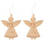 """Набор подвесок Yes! Fun """"Ангелочки"""", декорированный золотом, 2 шт."""
