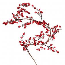 Ветка Yes! Fun с красными ягодами декоративная, 150 см