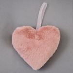 Сердце Yes! Fun пушистое розовое, 15 см