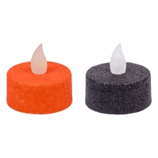Набор свечей Yes! Fun Хэллоуин, 4*2 см, 2 шт, черн.+оранж, LED