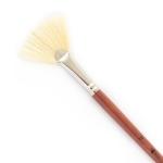 """Кисть худож. щетина """"Santi Studio"""", длинная ручка, веерная, №16."""