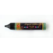 """ЗD-гель """"Liquid glitter gel"""", оливково-зеленый"""