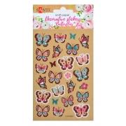 """Набор декоративных стикеров на крафтовой бумаге """"Бабочки"""". 2 шт. в уп. 100*150 мм."""