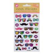 """Набор декоративных стикеров с тиснением """"Glasses"""""""