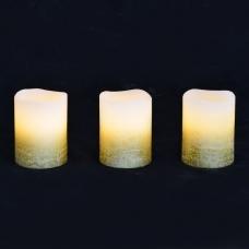 Набор свечей Yes! Fun воск. LED 3шт., 5*6.5, золото