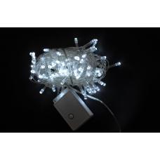 Электрогирлянда Yes! Fun светодиодная, 100 ламп, холодно-белая, 5 м., 8 реж.мигания, прозр