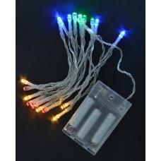 Электрогирлянда Yes! Fun, 20 LED лампочек, многоцветная, 2,10 м., 1 реж.мигания, прозр.про