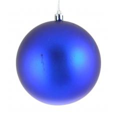 Шар d-10 см синий матовый