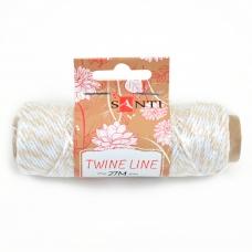 Шнур двухцветный декоративный, цвет бело-бежевый, 27 м.