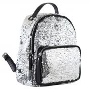 Рюкзак молодёжный YW-24, 23*26*12, серебряный