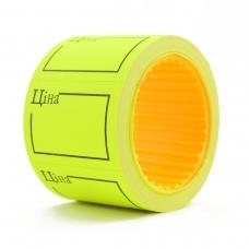 Ценник Datum флюо TCBIL3525 4,00м, прям.160шт/рол с/н (желт.)