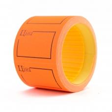 Ценник Datum флюо TCBIL3525 4,00м, прям.160шт/рол с/н (оранж.)