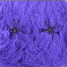 Паутина YES! Fun фиолетовая с двумя паучками, 20 г