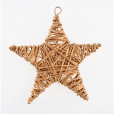 Звезда ротанговая золотая, 15 см