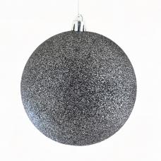 Шар Yes! Fun d - 10 см, серый графит, глиттер