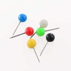 """Кнопки """"Шарик"""" 6 мм 50 шт. цветные D1734"""
