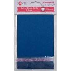 Набор темно-синих заготовок для открыток, 10см*15см, 230г/м2, 5шт.