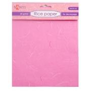 Рисовая бумага, розовая, 50*70 см