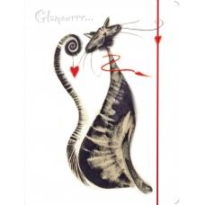 """Папка на резинке А4 """"Glamour cats"""" L5910"""