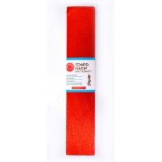 Бумага гофрированная металлизированная красная 20% (50см*200см)