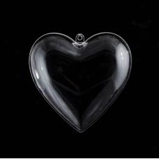 """Набор пластиковых форм Santi """"Сердце"""", 10см, 5шт/уп"""