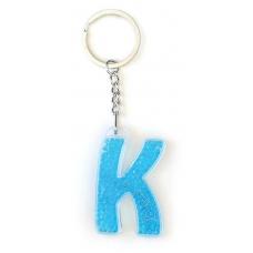 """Брелок YES буква  """"К"""", голубая"""