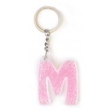 """Брелок YES буква  """"М"""", розовая"""