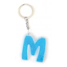 """Брелок YES буква   """"М"""", голубая"""