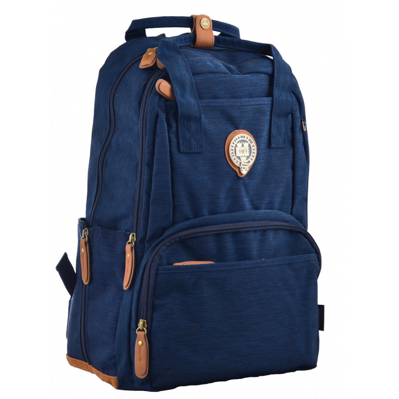 Рюкзак молодежный OX 343, 45*29.5*14, синий