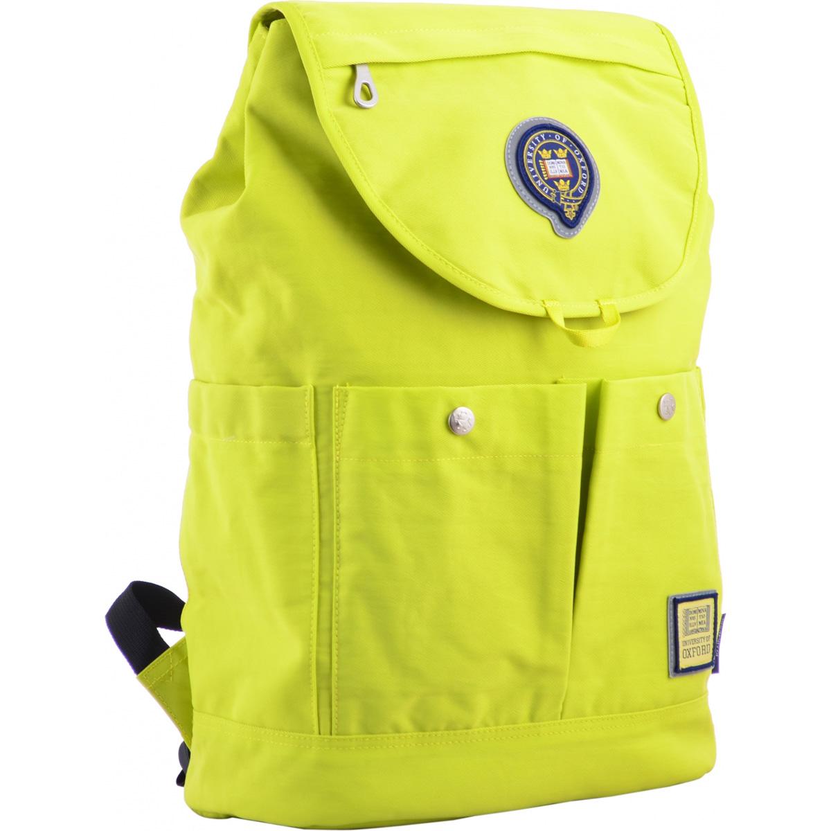 Рюкзак молодежный OX 414, 43.5*31*16, салатовый