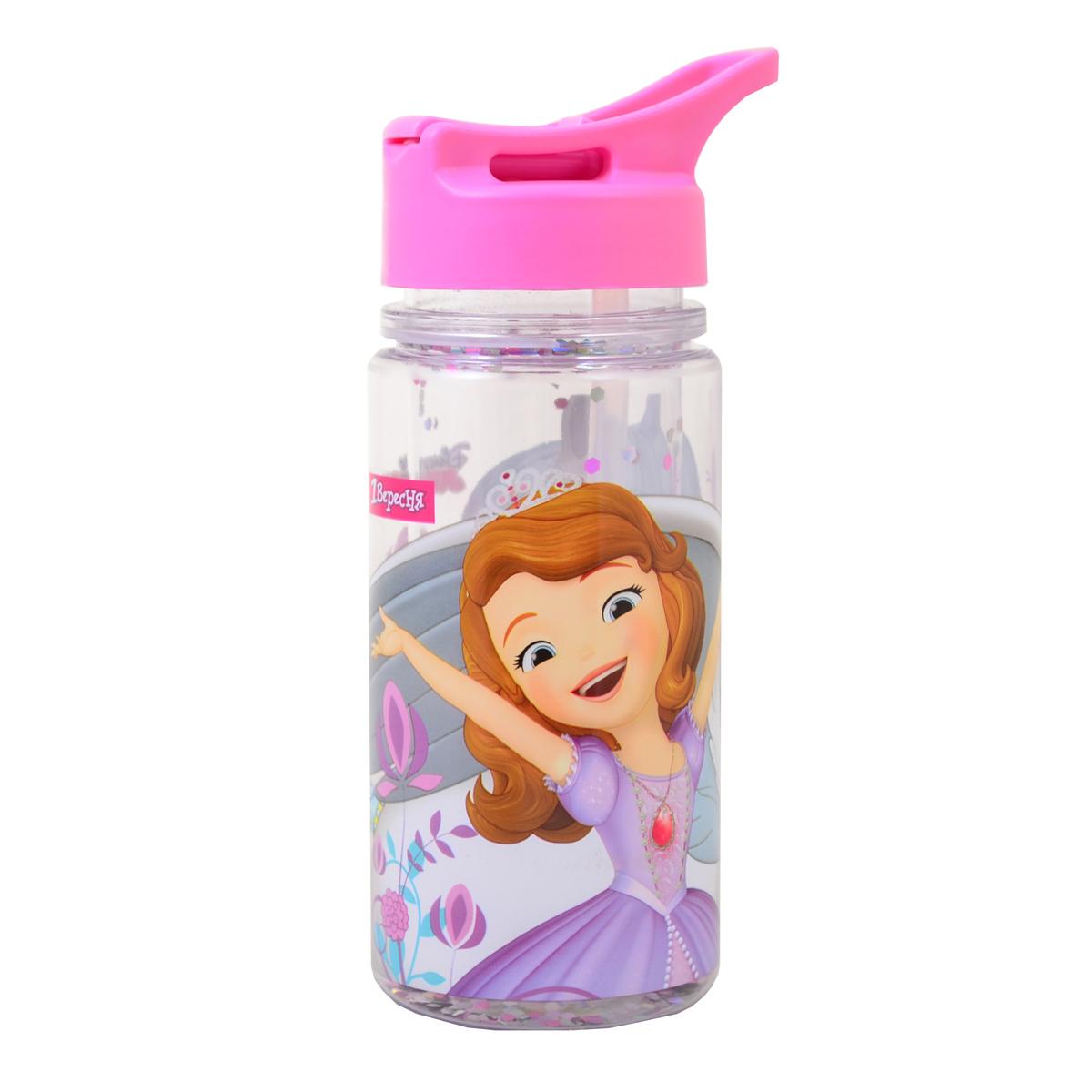 "Бутылка для воды 1Вересня с блестками ""Sofia The First"", 280 мл"
