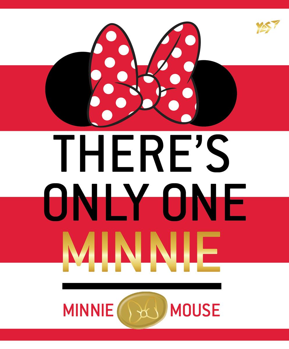 А5/12 кл. YES глиттер+фольга золото+софт-тач Minnie Mouse gold, тетрадь