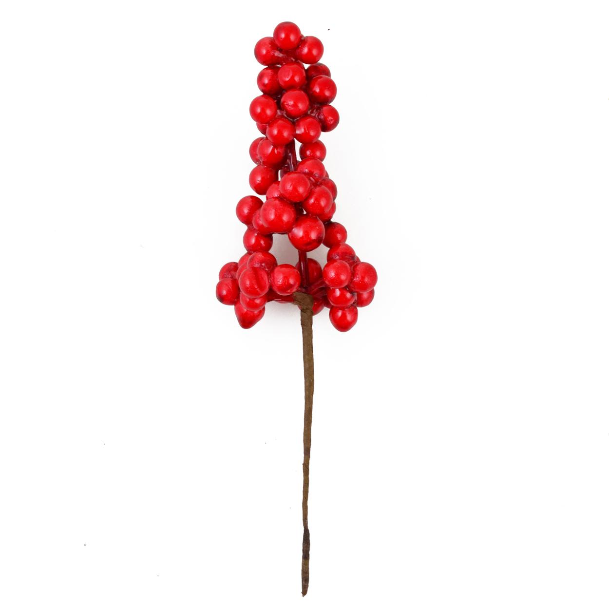 Ветка Yes! Fun с красными ягодами, 15 см