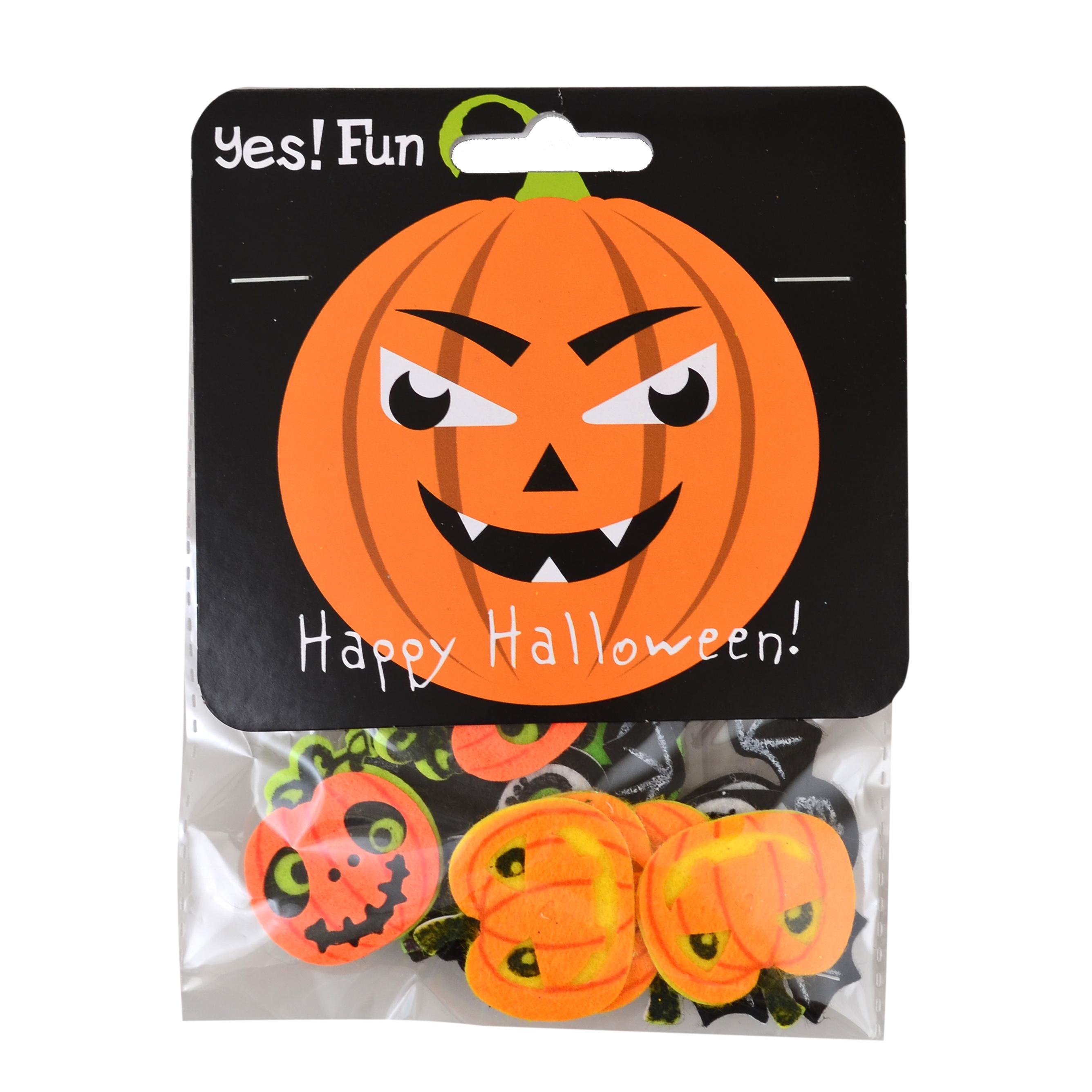 Набор декоративных наклеек Yes! Fun из фетра для Хэллоуина № 4, 12 шт.