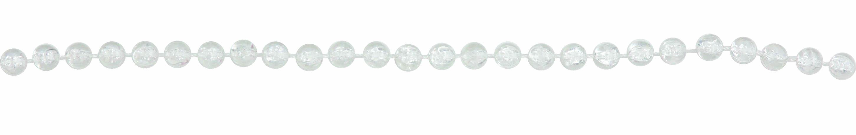Бусы новогодние 6мм*3м, кристалл