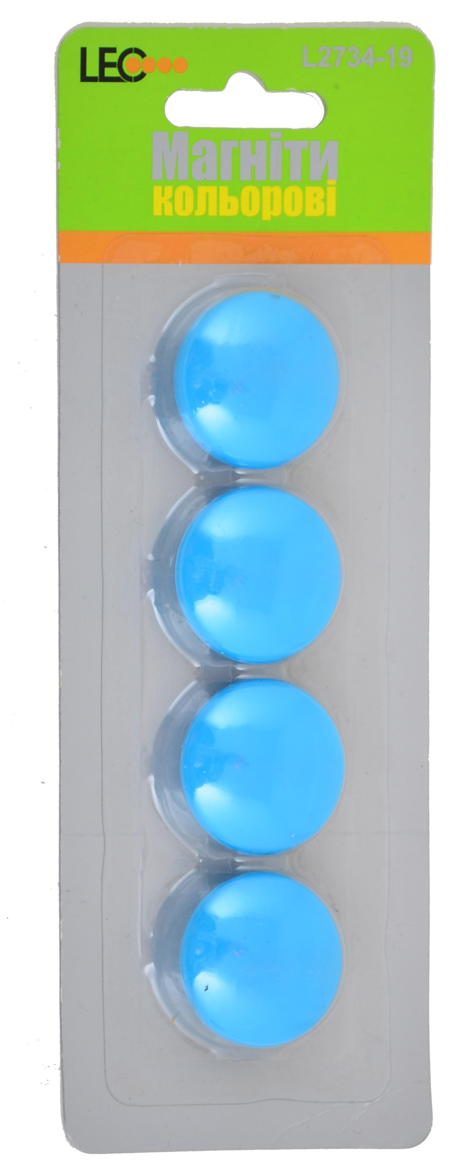 Магниты для досок 4шт/уп L2734-19 неон бирюзовый