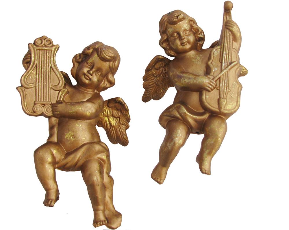 Ангел 16 см, в ящ. mix: золотой, 3 вида